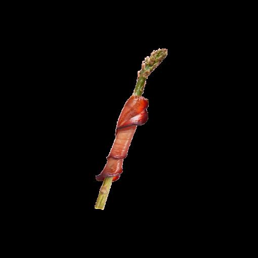 Šparagas su kumpiu